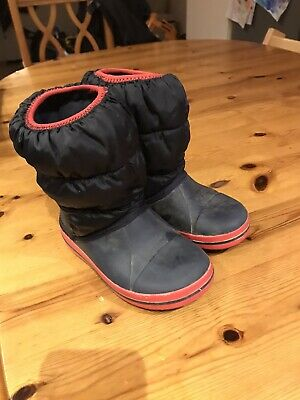 Childrens Winter Puff Crocs Snow Boots Sz 10 • 9.99£