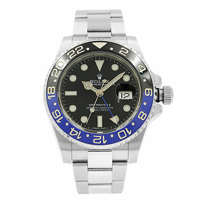 $ CDN20200.35 • Buy Rolex GMT-Master II Batman Steel Black Dial Automatic Mens Watch 116710BLNR