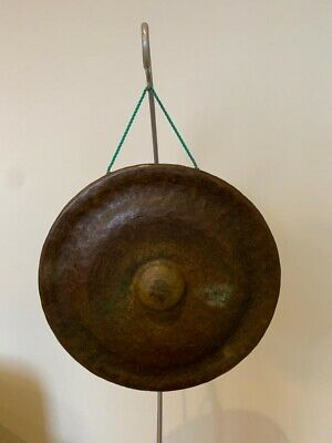 Stunning Antique Burmese Gong On Stand • 40£