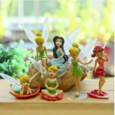 6 Pcs TINKER BELL FAIRIES FIGURES TOYS CAKE TOPPERS KIDS BIRTHDAY PARTY GIFTS • 6.36£