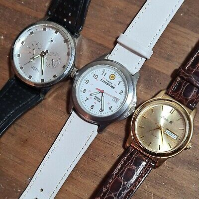 Lot Of Polo Club,Timex Expedition,Ingersoll Mens Watches,all Working,nice Cond. • 15£