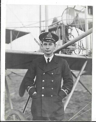 WW1 Original Photograph Royal Naval Air Service Lt.Norman Crook • 20£