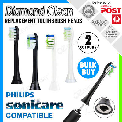 AU7.90 • Buy DIAMOND CLEAN Replacement Brush Heads For Philips Sonicare Toothbrushes HX6064