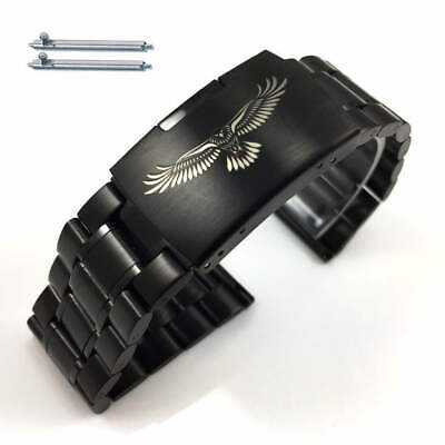 Steel Metal Bracelet Replacement Watch Band Strap Black Eagle Collection 5016-50 • 18.05£
