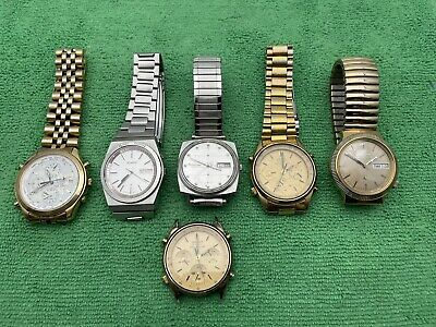 $ CDN90.61 • Buy Vintage Seiko/Accutron Chronograph Mixed Watch Lot For Parts Or Repair Only.