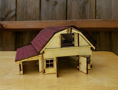 $ CDN44.20 • Buy HO Scale Model Railroad Train Building Barn Kit