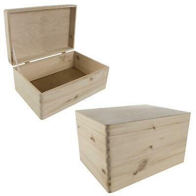 Plain Wooden Storage Keepsake Gift Boxes With Lid Suitable For Personalization • 13.95£
