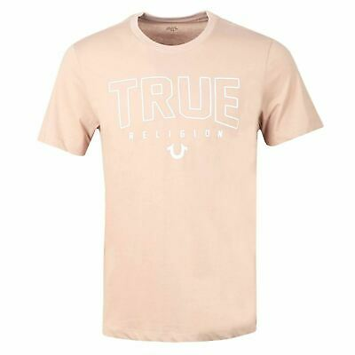 TRUE RELIGION Men's Old Pink Crew Neck Short Sleeve Tee Size XXL RRP49 BNWT • 24.50£