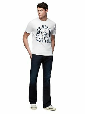 TRUE RELIGION Men's White Cotton Crew Neck Buddha Shade T-shirt XXL RRP 69 BNWT • 20.65£