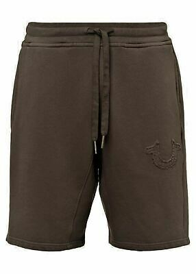 TRUE RELIGION Men's Brown Horseshoe Active Wear Sweat Shorts M RRP 109 BNWT • 54.50£