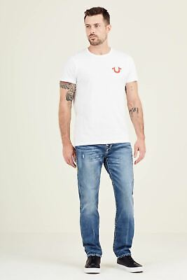 TRUE RELIGION Men's White Short Sleeve Fit Double Puff T-Shirt XXL RRP49 BNWT • 24.50£