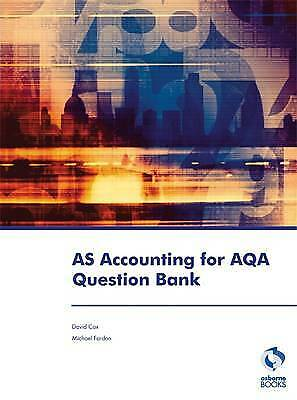 £11.99 • Buy AS Accounting For AQA Question Bank Accounting  Finance, Cox, David,  Paperback
