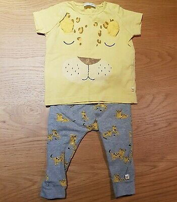 Next Baby 3-6 Months Outfit BNWOT Leopard Animal Print  • 4£