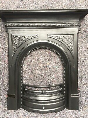 Cast Iron Victorian Style Fire Surround / Fireplace Insert, Arched Uk Delivery • 250£
