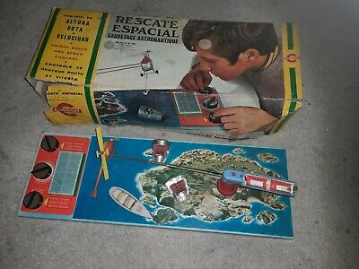 Great Vintage Original Nasa Helicopter Rescue Game Battery .french Made By... • 15£