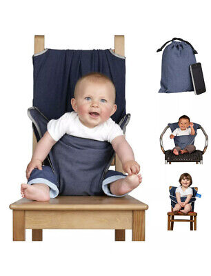 The Totseat Portable Travel High Chair (100% Cotton Denim Blue) • 0.99£