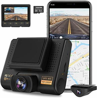 AU216.99 • Buy AQP Dual Dash Cam, Full HD 1080P Car Camera Front And Rear For Cars, Dashboard