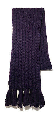 GAP Ladies Womens Purple Chunky Cable Knitted Long Scarf (Brand New Without Tag) • 9.99£