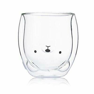Cute Mugs Glass Double Wall Insulated Glasses Espresso Cup, Coffee Cup, Tea Cup, • 18.99£