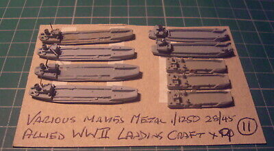 Allied WWII Landing Craft X 9 By Various Makes, Scale 1/1250  • 4.99£