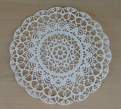 Tattered Lace Circular Lace Doily Die Cuts+2 Smaller Star Edged - White Or Cream • 3£