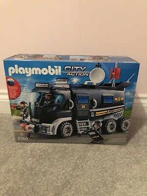 PLAYMOBIL 9360 City Action SWAT Truck With Lights And Sound • 40£