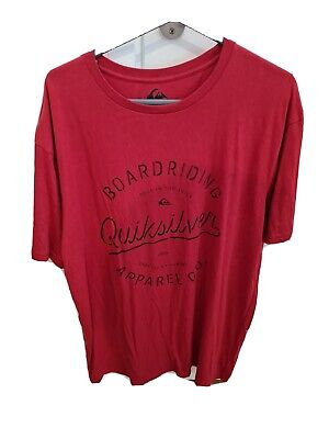 Quicksilver Red T-Shirt Size L. #6 • 4.30£