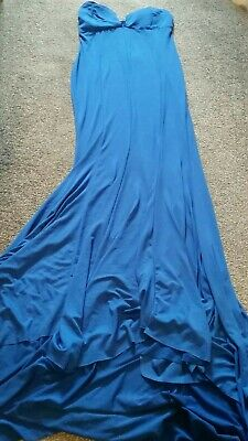 Ladies Elegant Long Evening Dress Tall Pagent Sweetheat Drape • 2£