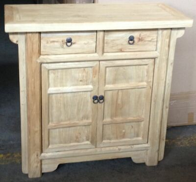 AU938 • Buy Shuli Chinese Antique Reproduction 2-drawer 2-door Cabinet Cupboard Recycled Elm