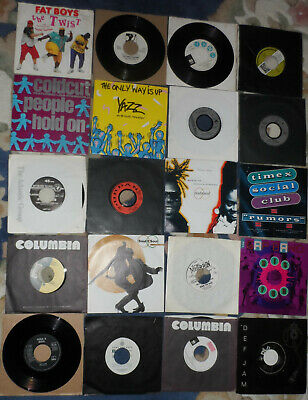 20 X 1980s House & Hip Hop 45 Rpm Vinyl Records, Singles Joblot  • 4.19£