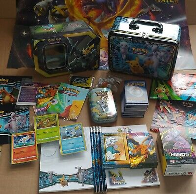 Empty Fall 2019 Pokemon Collectors Chest + Pikachu And Zekrom Tin + 150 Cards • 8.99£