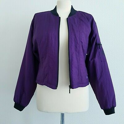 Vintage DASH 1980s Purple Shell Suit Jacket Zip-Up Bomber Style Sporty Top - M • 4.99£
