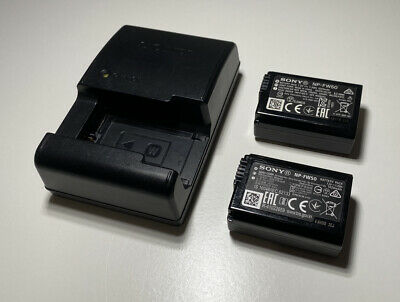 2 X Genuine SONY NP-FW50 Batteries And Sony Charger. • 40£