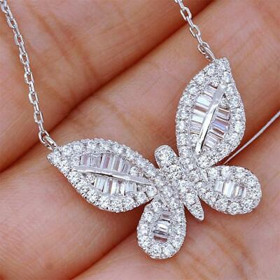 AU19.15 • Buy Valentines Day Butterfly Pendent Women Necklace Chain Shiny Gift Jewelry
