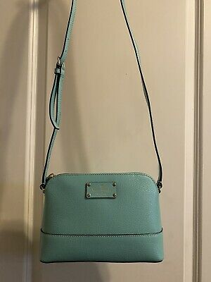 $ CDN31.90 • Buy Kate Spade Hanna Wellesley Medium Crossbody Purse WKRU2895 Turquoise NWT