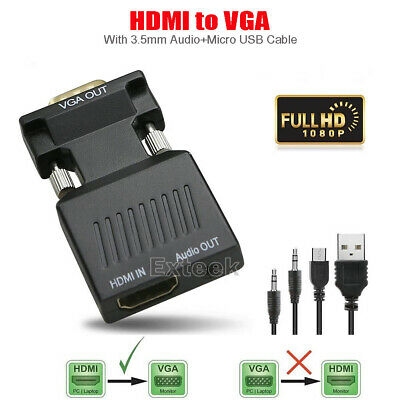 AU7.61 • Buy HDMI Female To VGA Male Converter Video Adapter Converter With Audio HD 1080P