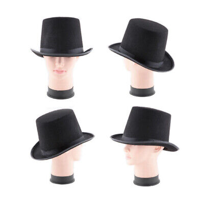 Tall Top Hat Halloween Steampunk Magician Mad Hatter Ringmaster Costume 55UK • 3.99£