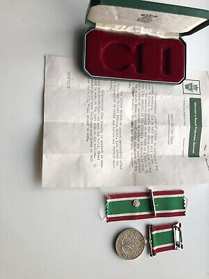 W.R.V.S. Medal & Original Box With Badge Service Letter And Spare Ribbon Ex • 25£