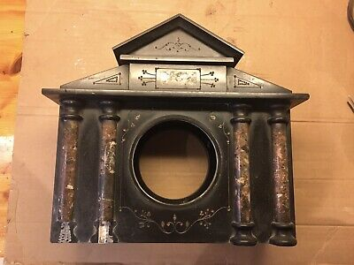 Antique Marble And Black Slate Clock Case • 9.99£