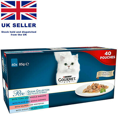 Gourmet Perle Cat Food Ocean Collection Mini Fillets In Gravy  40 X 85g NEW  • 29.99£