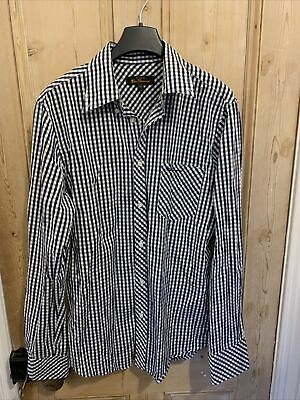 Ben Sherman Tailored Fit Blue And White Gingham Shirt • 2£
