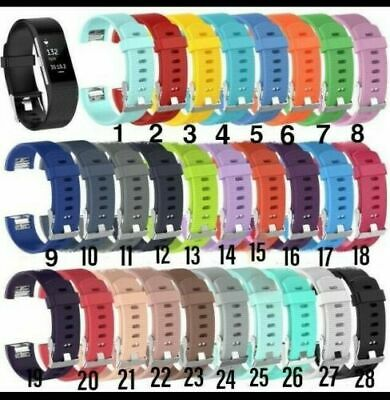 $ CDN5.15 • Buy Soft Silicone Replacement Wristband Strap For Fitbit Charge 2 Sml & Lge UK STOCK