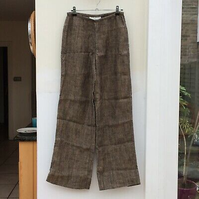 100% Linen Wide Leg Trousers Patsy Seddon For Phase Eight UK 10 Excellent • 5£