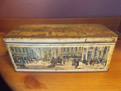Vintage Jacobs 'Old London' Biscuit Tin W & R Jacob And Co (Liverpool) Ltd • 4.99£