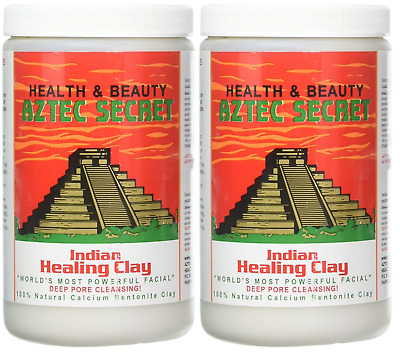 AU42.08 • Buy Aztec Secret Indian Healing Clay Deep Pore Cleansing Face Care 2 Pound 2 PACK