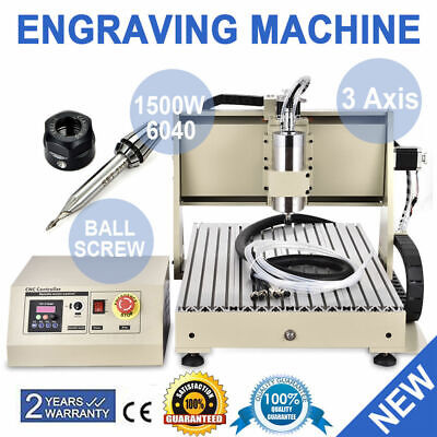 AU1173 • Buy 3Axis 6040 CNC Router Engraver Milling Machine Graving Drill 1500W+control Box