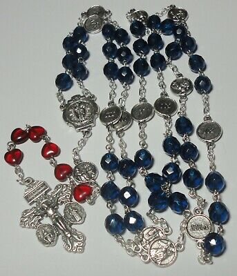 Handmade In The US Stations Of The Cross Rosary Chaplet W 3-in-1 Pardon Crucifix • 22£