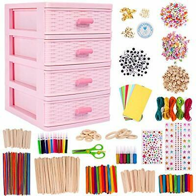 Art Crafts For Kids With Drawer Container, 1300Pcs Colourful And Art Crafts • 33.99£