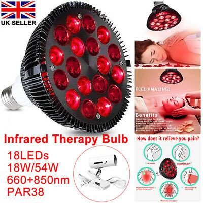 Infrared Combo LED Red Light Therapy Bulb Skin Pain Relief 660nm 850nm Deep Near • 28.99£