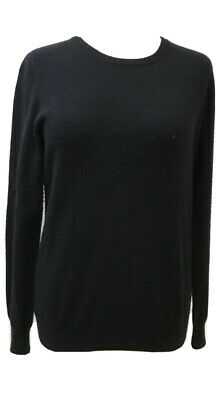 Designer N.PEAL 100% CASHMERE BLACK Knit Top Jumper Knitwear  Sz M UK 10-12 • 5.50£